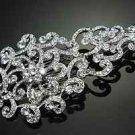 BRIDAL WEDDING BRIDE SILVER AURORA CLEAR RHINESTONE CRYSTAL VINTAGE HAIR COMB