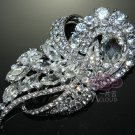 100% CZECH GLASS RHINESTONE CRYSTAL WEDDING BRIDAL VINTAGE BROOCH PIN