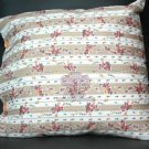 "17"" FLORAL KHAKI BROWN ROSE VICTORIAN CUSHION PILLOW CASE COVER"