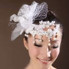 FAUX PEARL BRIDAL WEDDING BRIDES RHINESTONE PAD FLOWER PEARL HAIR CLIP