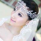 WEDDING BRIDAL ART DECO BRIDE HEAD RHINESTONE CRYSTAL HAIR CHAIN TIARA CROWN