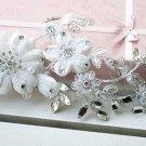 BRIDAL WEDDING RHINESTONE CRYSTAL EMBROIDERY APPLIQUE LACE / HAIR CLIPS