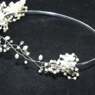 WEDDING BRIDAL RHINESTONE CRYSTAL FLOWER FRESHWATER PEARL CROWN TIARA HEADBAND