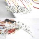 WEDDING BRIDAL RHINESTONE CRYSTAL FLOWER VICTORIAN CROWN TIARA