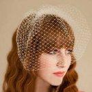 HANDMADE WEDDING BRIDAL BRIDES BRIDCAGE NET VEIL COVER FACE MASK & CLIP
