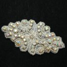 BEADED GLASS AURORA CRYSTAL RHINESTONE WEDDING CRAFT HEADBAND APPLIQUE