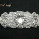 LONG CRYSTAL RHINESTONE WEDDING HAIR HEAD ALLIGATOR CLIP