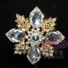 VINTAGE STYLE BRIDAL WEDDING BOUQUET CAKE RHINESTONE CRYSTAL CROSS BROOCH PIN