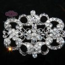 LOT OF 3 RHINESTONE CRYSTAL BRIDAL WEDDING DRESS SASH RIBBON BROOCH PIN