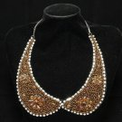 CHAIN METAL LACE RHINESTONE CRYSTAL CHOKER NECK NECKLINE COLLAR NECKLACE