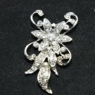 BRIDAL WEDDING RHINESTONE CRYSTAL VINTAGE SEWING HAIR APPLIQUE BUCKLE