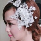 WEDDING BRIDAL RHINESTONE CRYSTAL LACE PEARL VICTORIAN CROWN TIARA  with CLIP