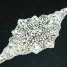 IRON/SEW PEARL GLASS CRYSTAL RHINESTONE WEDDING DRESS SASH DECORATION APPLIQUE