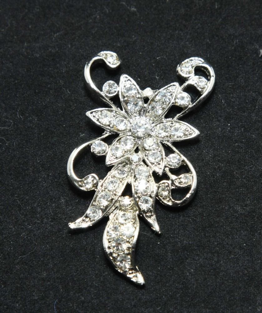 BRIDAL WEDDING RHINESTONE CRYSTAL VINTAGE SEWING HAIR ALLIGATOR CLIP