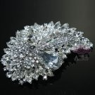 Large Wedding Bridal Marquise Teardrop Rhinestone Crystal Alloy Brooch Pin