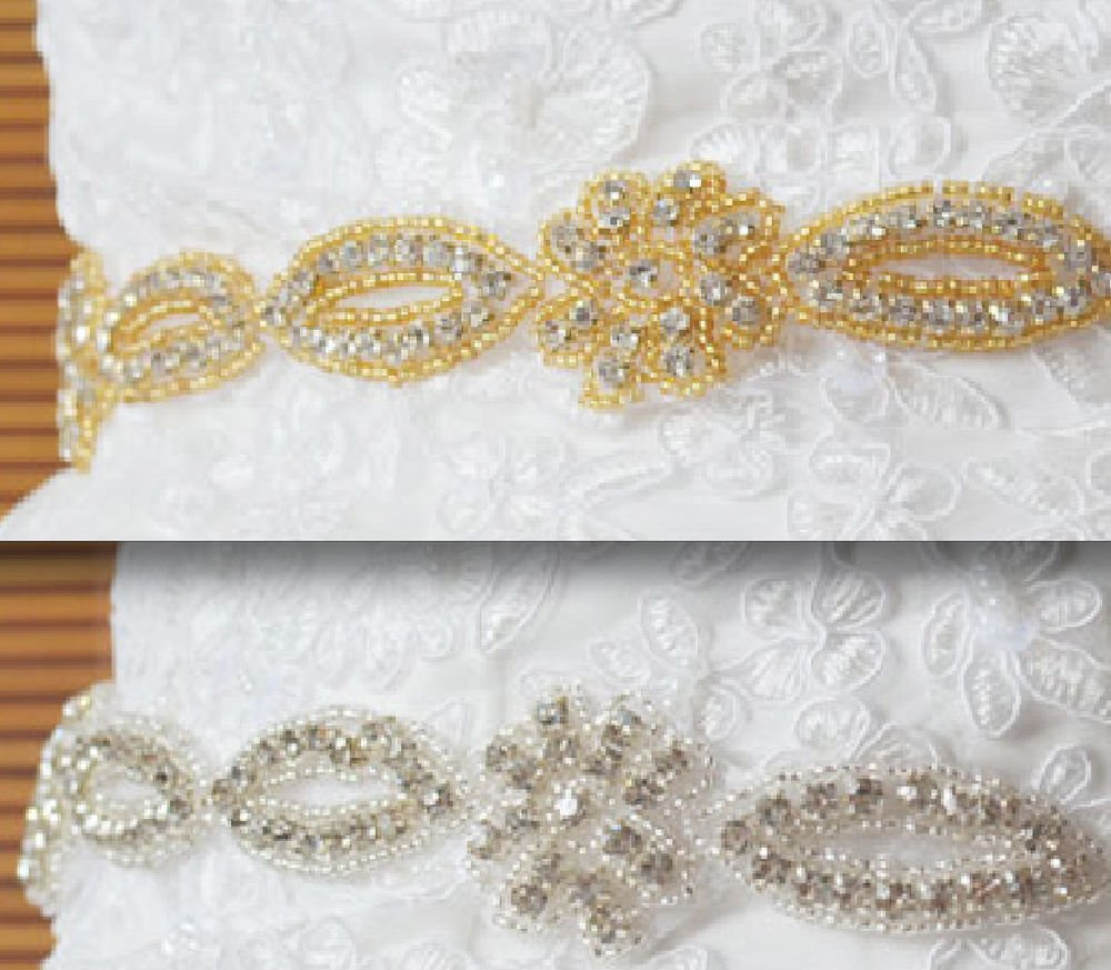 LOT OF 10 SILVER LONG TRIM RHINESTONE CRYSTAL SASH DRESS CRAFT SEW/IRON APPLIQUE