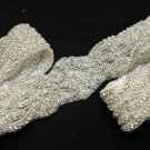 "32"" Long Vintage Style Beaded Rhinestone Crystal Wedding Ribbon Belt Applique"