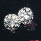 Lot of 10 Tiny Vintage Style Clear Rhinestone Crystal Round Shank Buttons DIY
