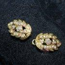 Gold Tone AB Rhinestone Crystal Wedding Bridal Wrap Closure Hook and Eye Clasp