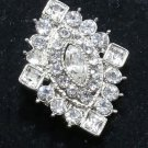 Rhombus Vintage Style Wedding Bridal Rhinestone Craft Buckle Brooch Pin