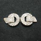 Rhinestone Crystal Wedding Bridal Wrap Ribbon Sash Closure Hook and Eye Clasp
