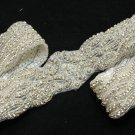 Lot Of 3 Beaded Crystal Rhinestone Wedding Sash Long Trim Silver Applique