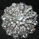 Lot of 2 Vintage Style Wedding Rhinestone Crystal Large Round Shank Buttons DIY