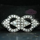 Rhinestone Crystal Wedding Bridal Ribbon Wrap Closure Hook and Eye Clasp DIY