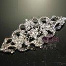Vintage Style Classic Motif Rhinestone Crystal Wedding Bridal Ribbon Belt Buckle