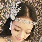 WEDDING BRIDAL RHINESTONE CRYSTAL GREAT GATSBY STYLE VICTORIAN CROWN TIARA -CA