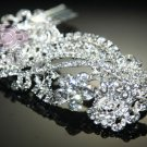 ART DECO BRIDAL WEDDING BRIDES SILVER RHINESTONE CRYSTAL TIARA HAIR COMB -CA