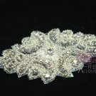 "3.5"" Vintage Style Rhinestone Crystal Bridal Ribbon Belt Headband Applique -CA"