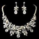Wedding Bridal Rhinestone Crystal High-End Faux Pearl Jewelry Set