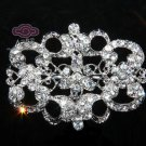 Vintage Style Rhinestone Crystal Wedding Bridal Dress Accessory Loops Back DIY