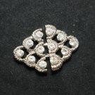 Motif Rhinestone Crystal Wedding Bridal Sash Rhombus Closure Hook and Eye Clasp
