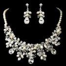 Wedding Bridal Rhinestone Crystal High-End Faux Pearl Jewelry Set -CA