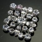 Lot of 2 Simple Marquise Round Rhinestone Crystal Rhombus Square Shank Buttons