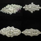 Mixed Of 4 Beaded Crystal Rhinestone Wedding Craft Sash Dress Hair Appliques