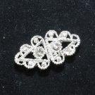 Mini Vintage Style Rhinestone Crystal Wedding Invitation Hook and Eye Clasp DIY