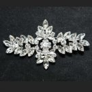 Rhombus Wedding Bridal Establishment Marquise Rhinestone Crystal Brooch Pin