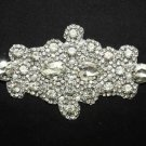 "7"" FAUX PEARL TEARDROP CRYSTAL RHINESTONE WEDDING GARTER APPLIQUE -CA"