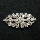 Vintage Style Wedding Rhombus Rhinestone Crystal Closure Hook and Eye Clasp DIY