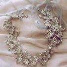 Lot of 4 Bridal Wedding Rhinestone Crystal Hair Tiara Chain Ribbon Headband