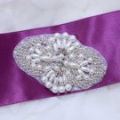 Lot of 2 Crystal Rhinestone Beaded Faux Pearl Wedding Bridal Garter Set Applique
