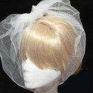 Handmade Wedding Bridal Organza Bridcage Net Face Veil Fascinator With Clip