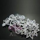 "4"" Vintage Victorian Style Star Flower Crystal Rhinestone Bridal Large Hair Comb"