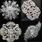4 MIXED RHINESTONE CRYSTAL BELT SASH WEDDING DRESS GIFT BROOCH PIN