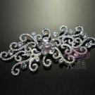 """4"""" Vintage Style Plant Flower Rhinestone Crystal Wedding Bridal Dress Brooch Pin"""
