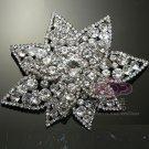 "4"" Large Double Layer Star Rhinestone Crystal Wedding Bridal Dress Brooch Pin"