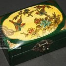 SALES- CHINESE ART PAINTING RED OR GREEN LEATHER JEWELRY WOOD BOX CASE SET